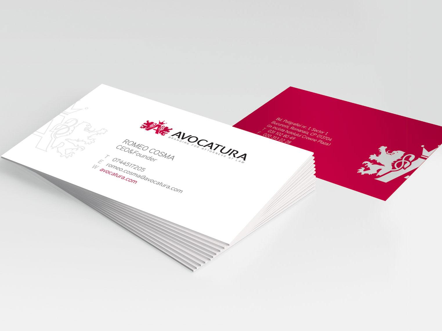 avocatura com carti vizita design