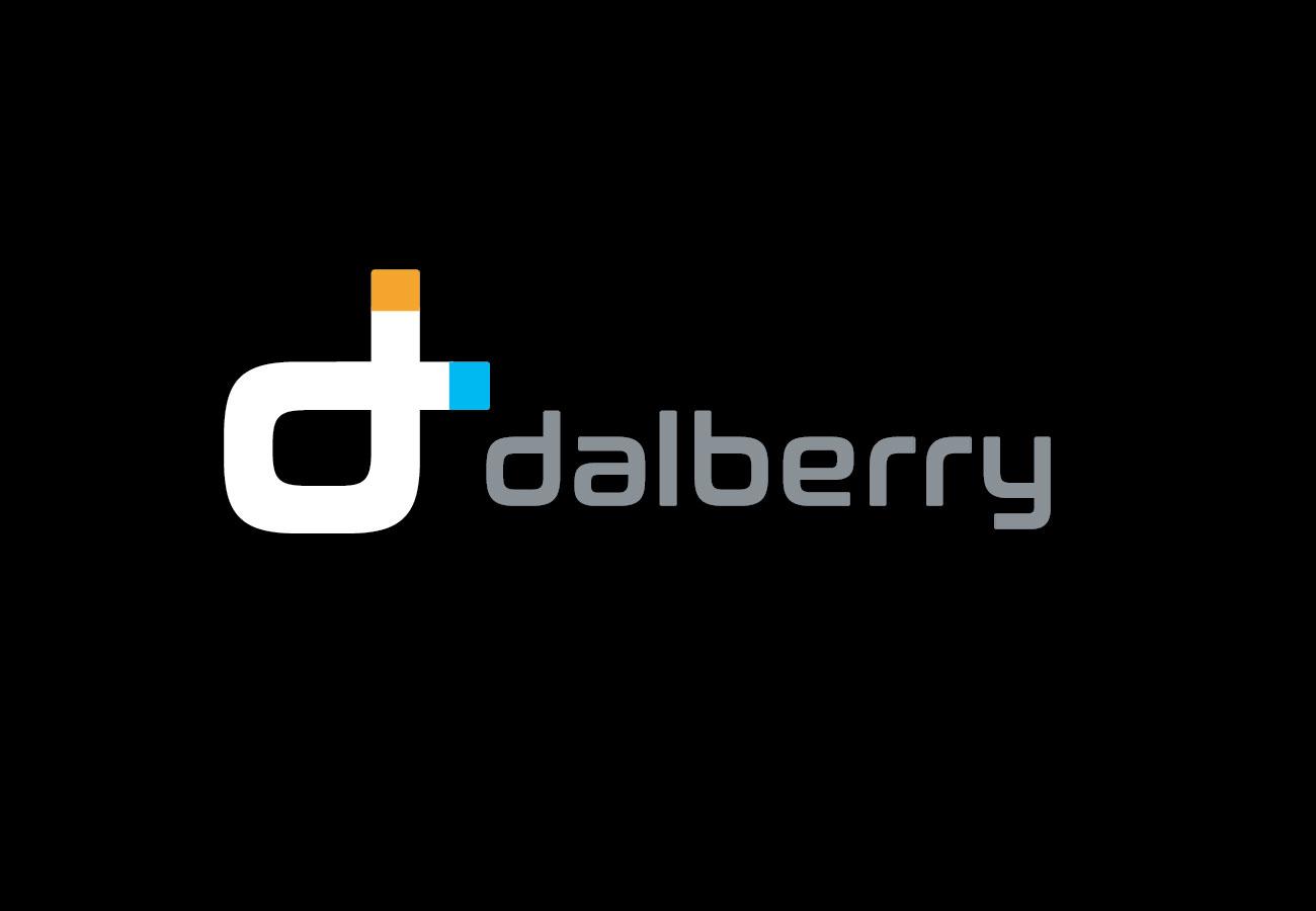 branding inovativ logo dalberry negru