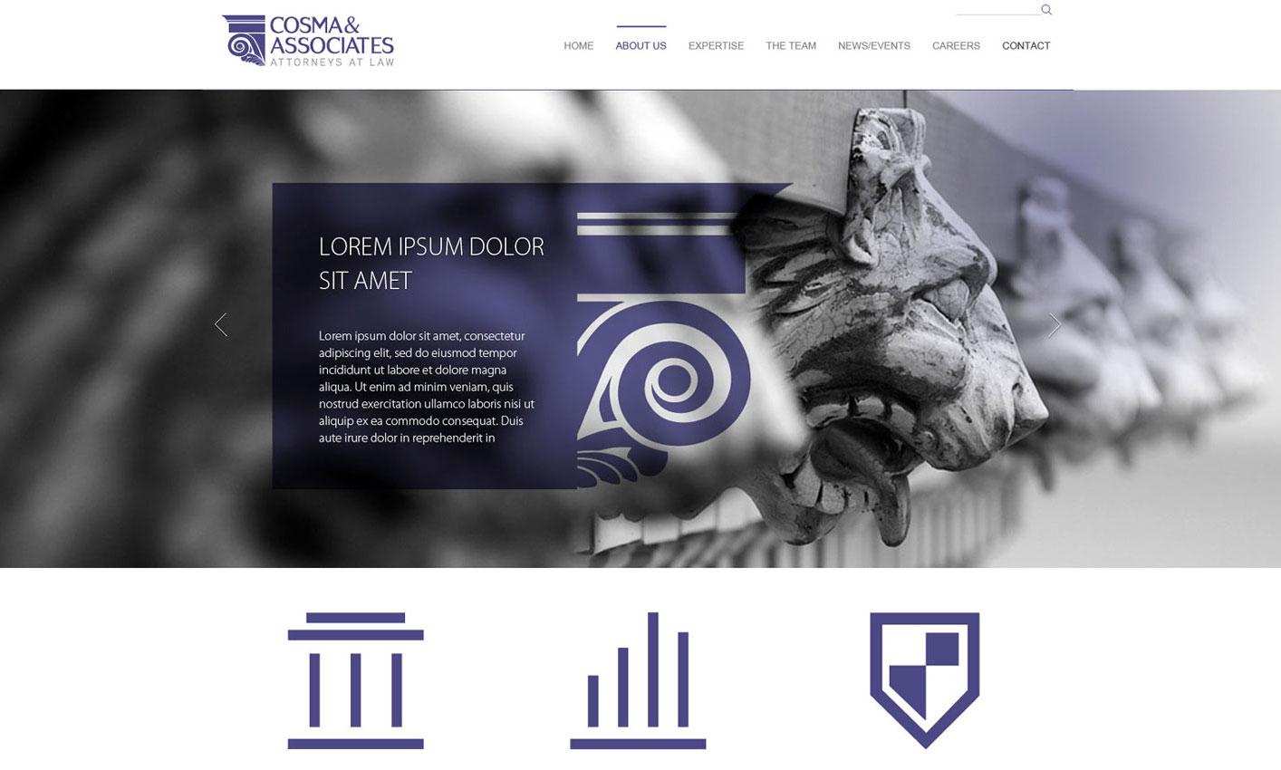 cosma si asociatii webdesign concept