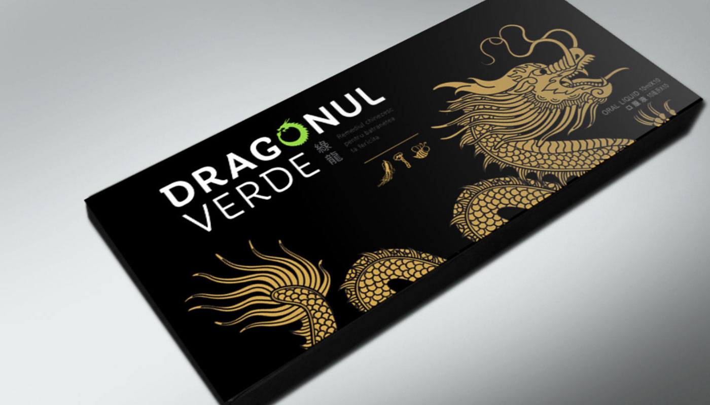 dragonul verde package design