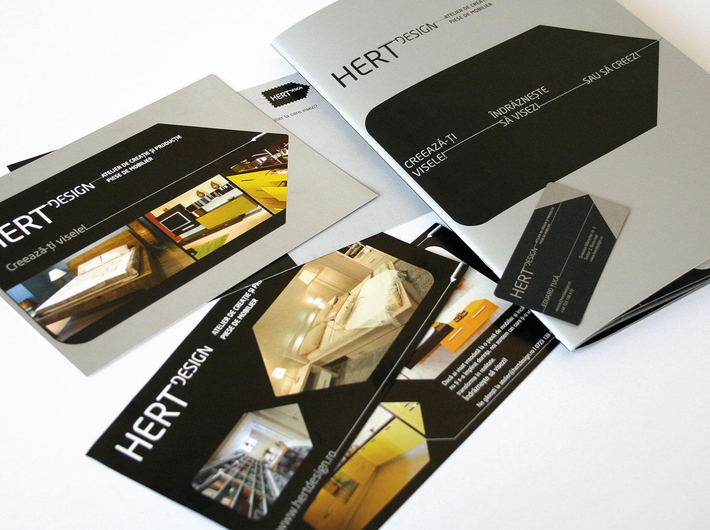 hert portofoliu stationary branding