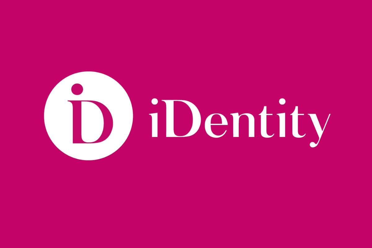 identity portofoliu branding logo pink
