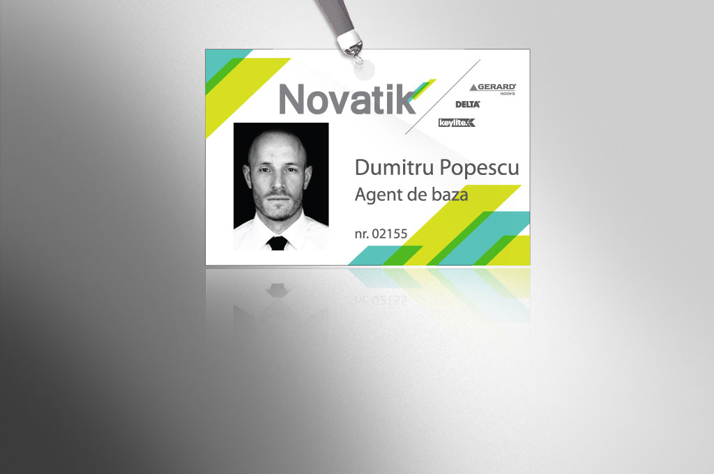 novatik portofoliu branding badge