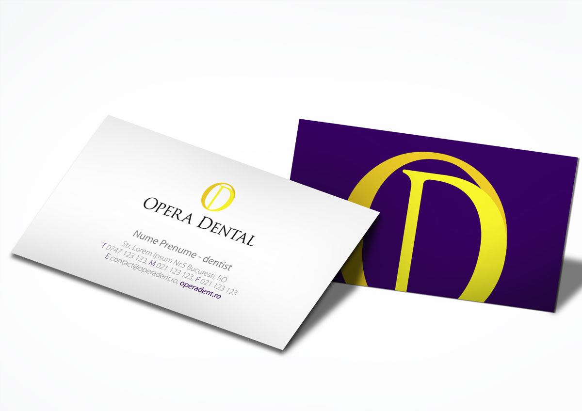 opera dental branding stationary