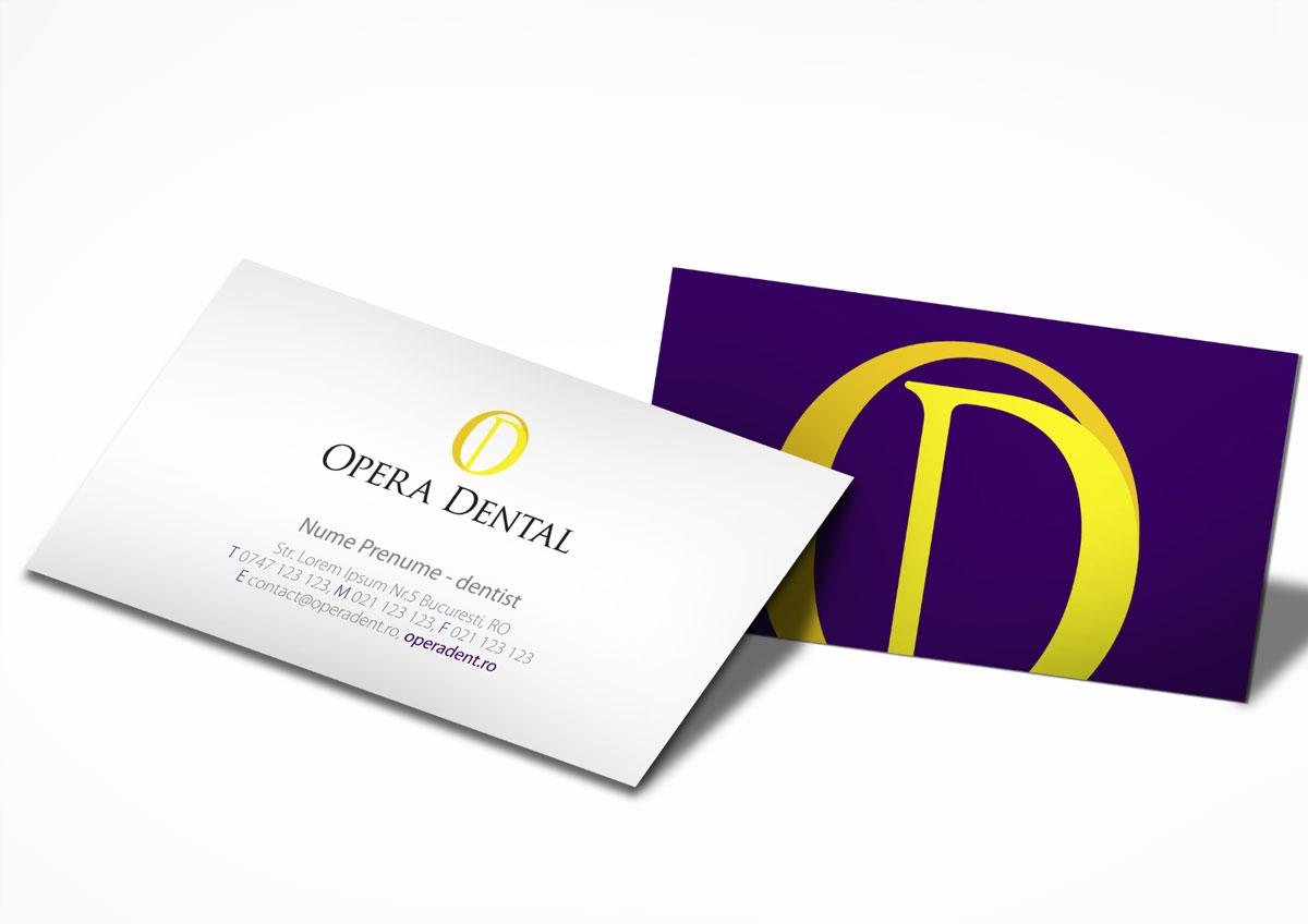 opera dental branding stationary