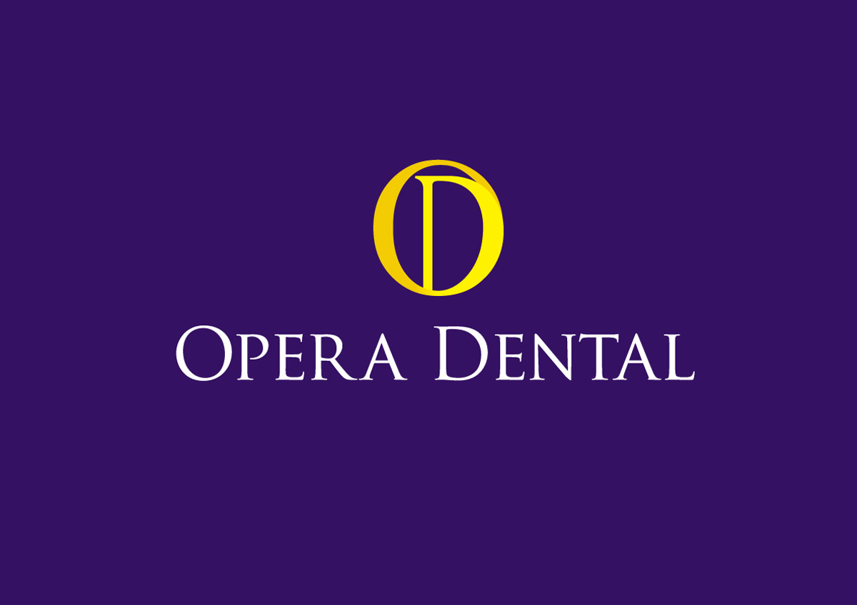 opera dental branding logo color