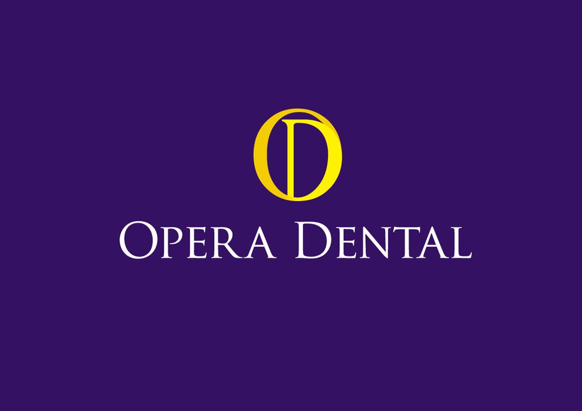 opera dental branding logo color
