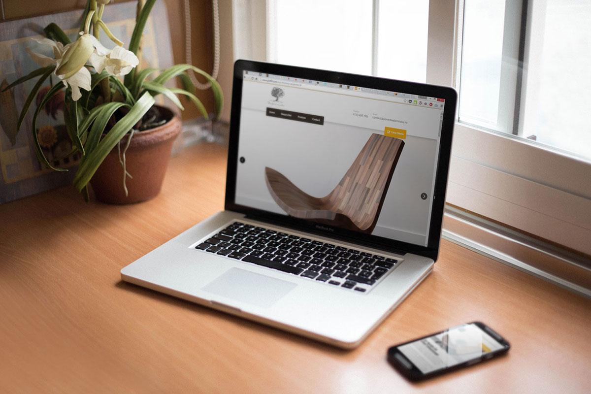 povestea lemnului webdesign