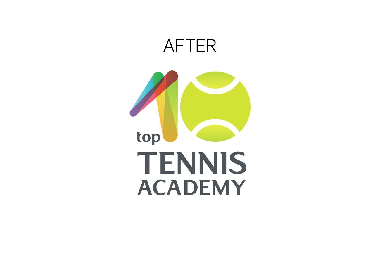logo after branding tennis academy