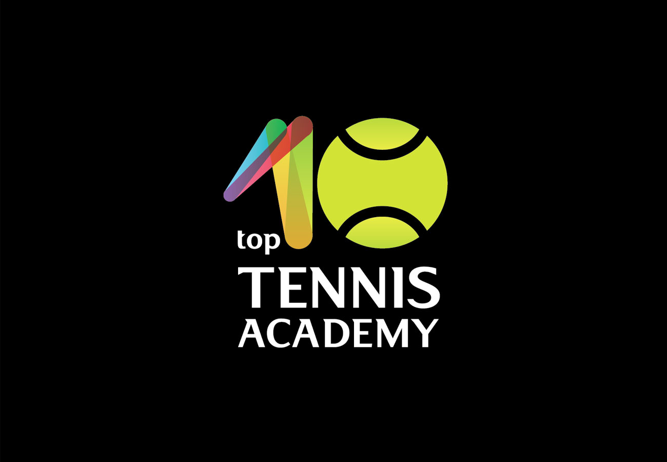 top 10 tennis academy logo black