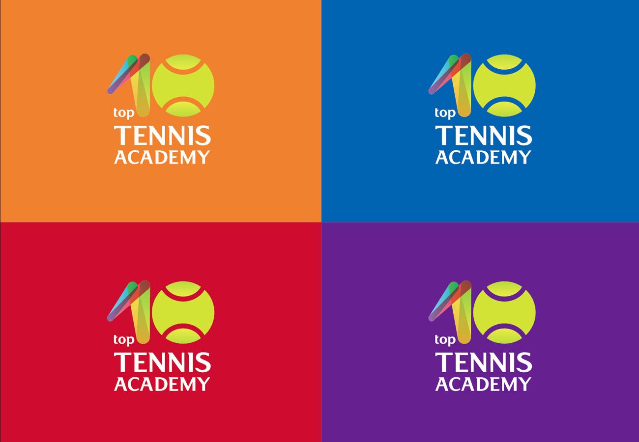 top 10 tennis academy logo multicolor