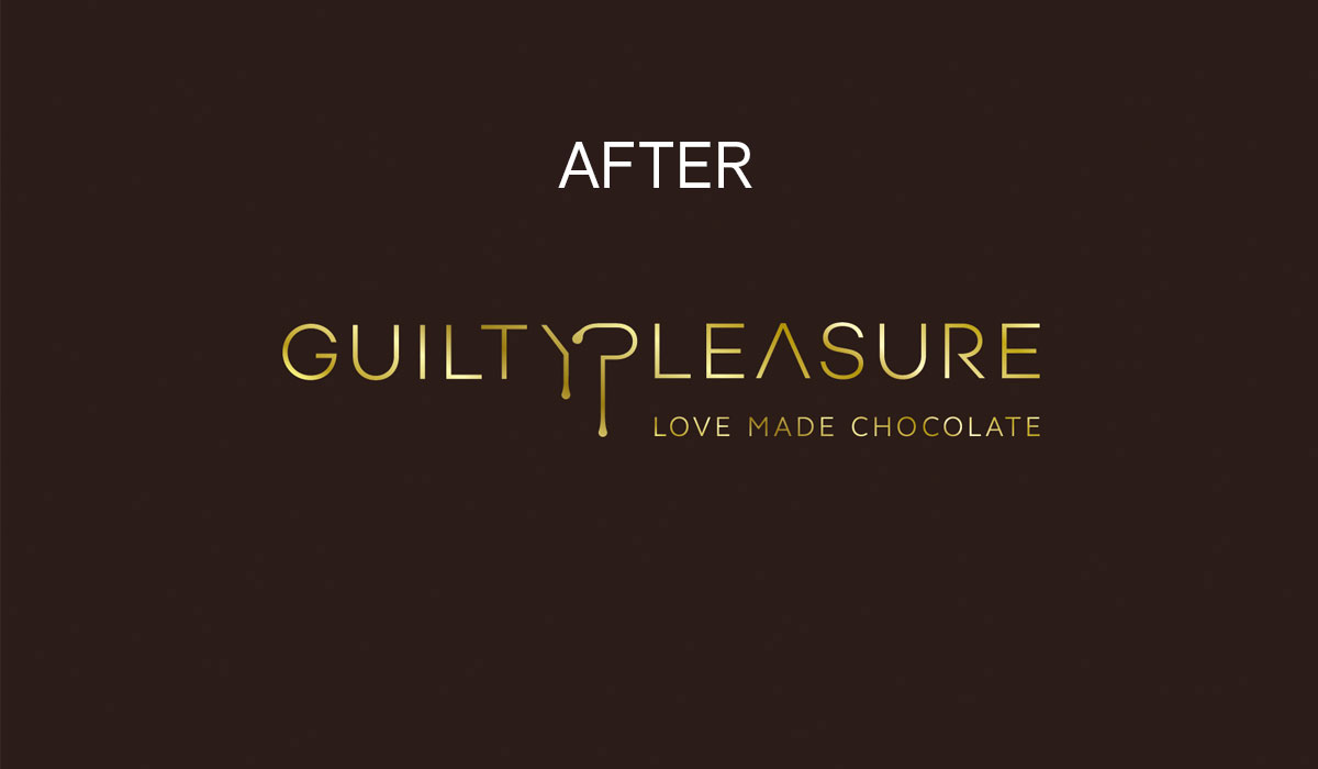 guilty pleasure portofoliu branding logo