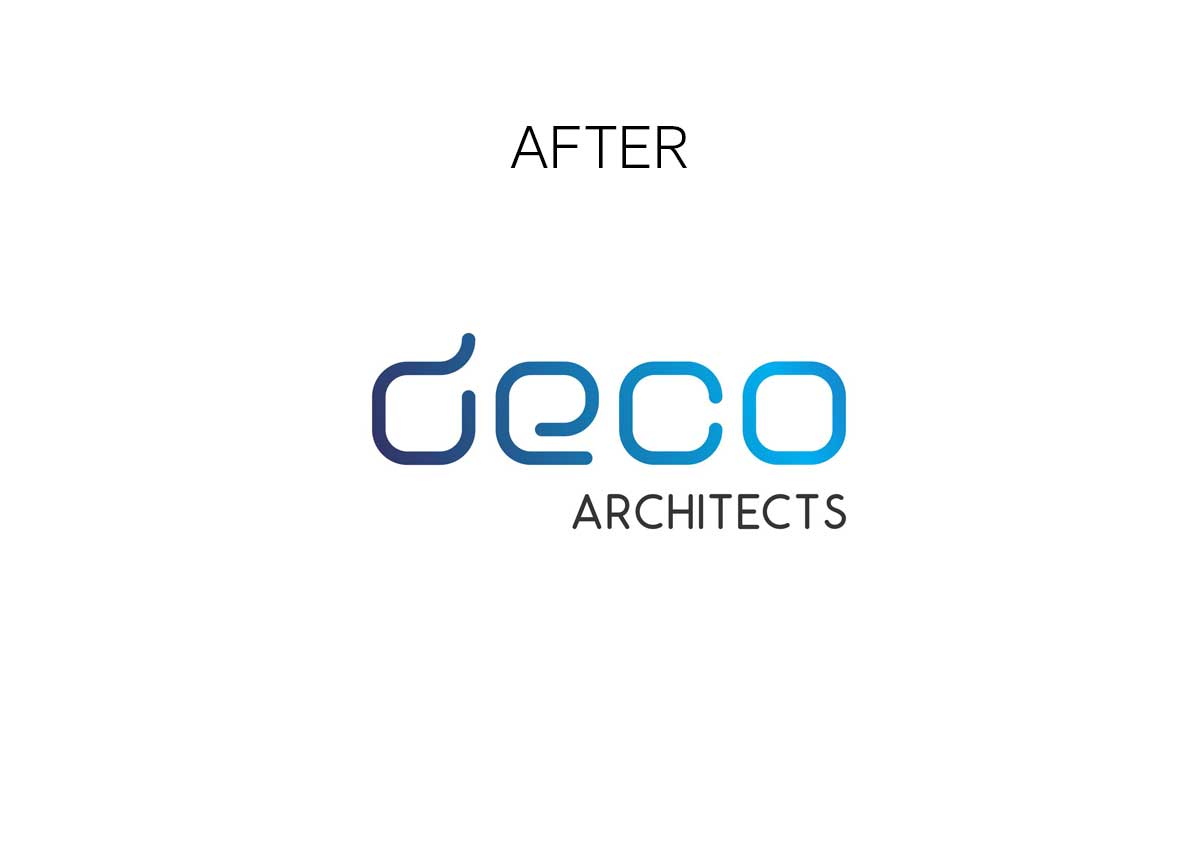 deco architects new rebranding logo