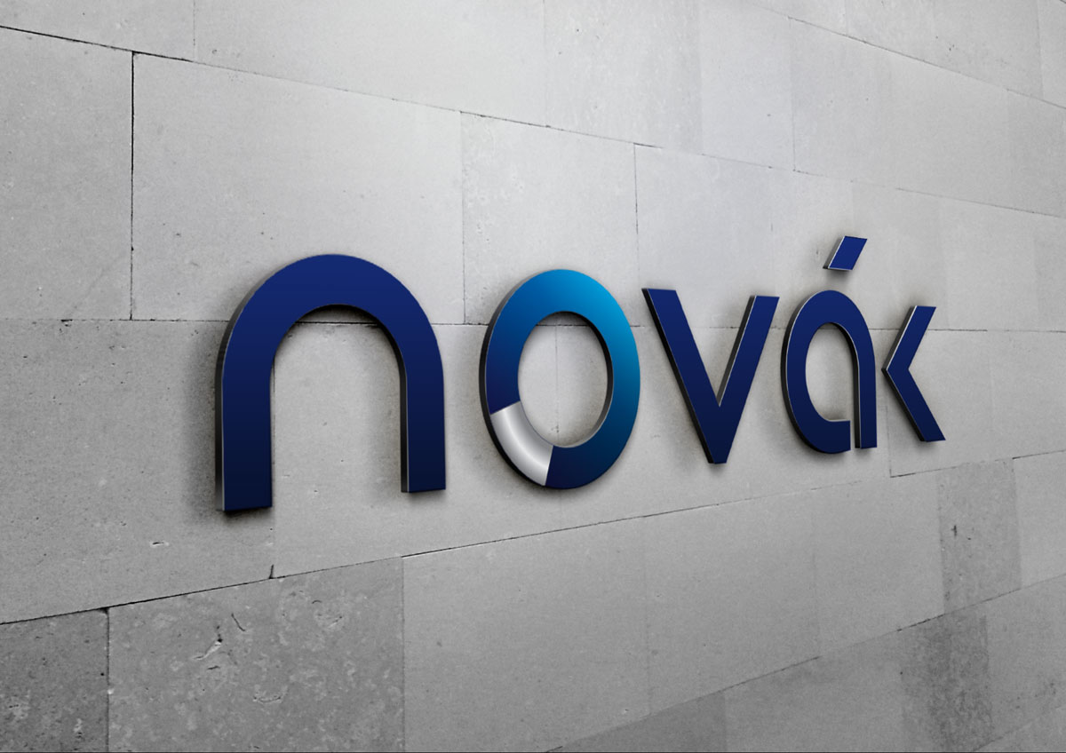 novak logo luminos branding