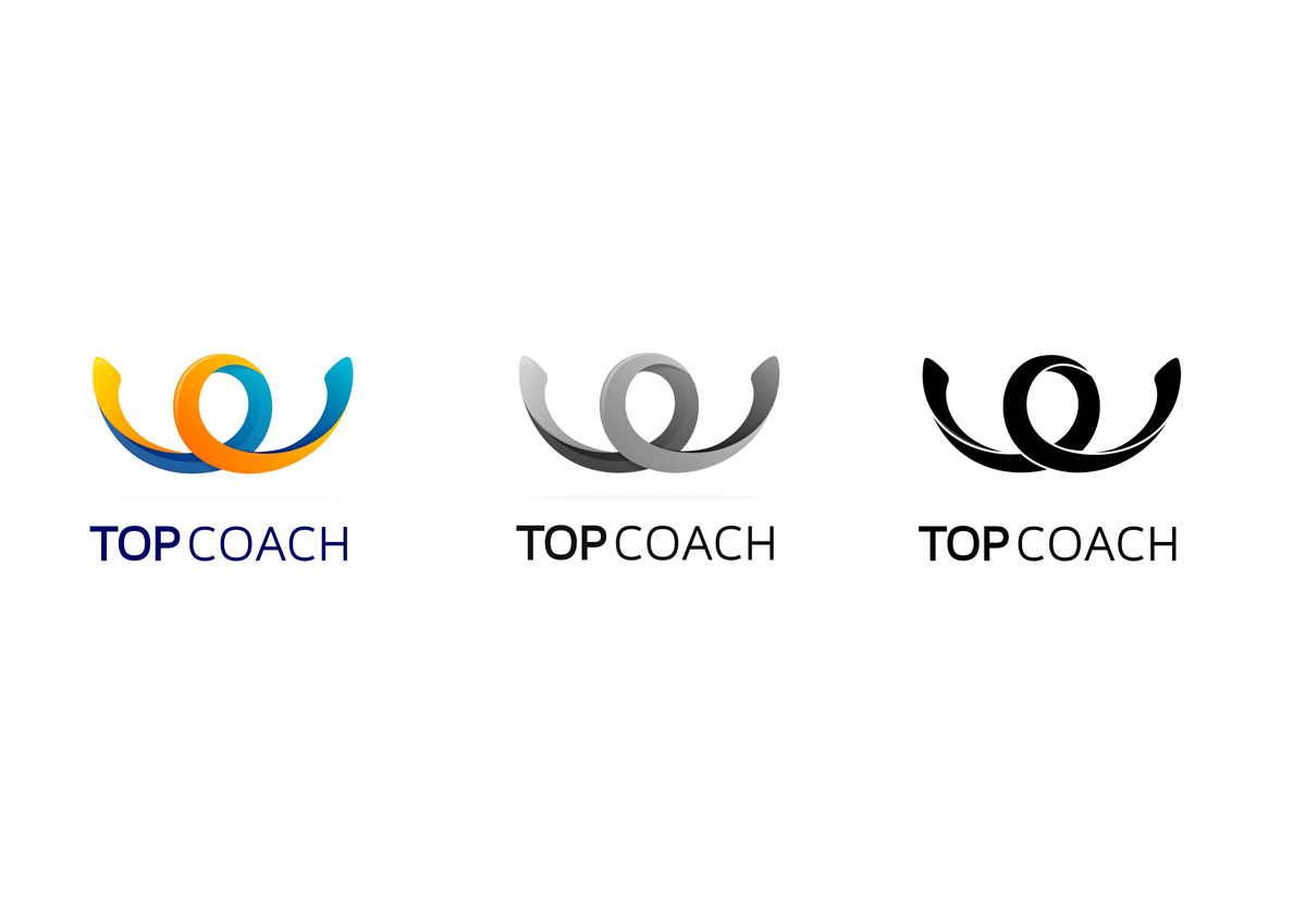 top coach logo black by inoveo branding agency
