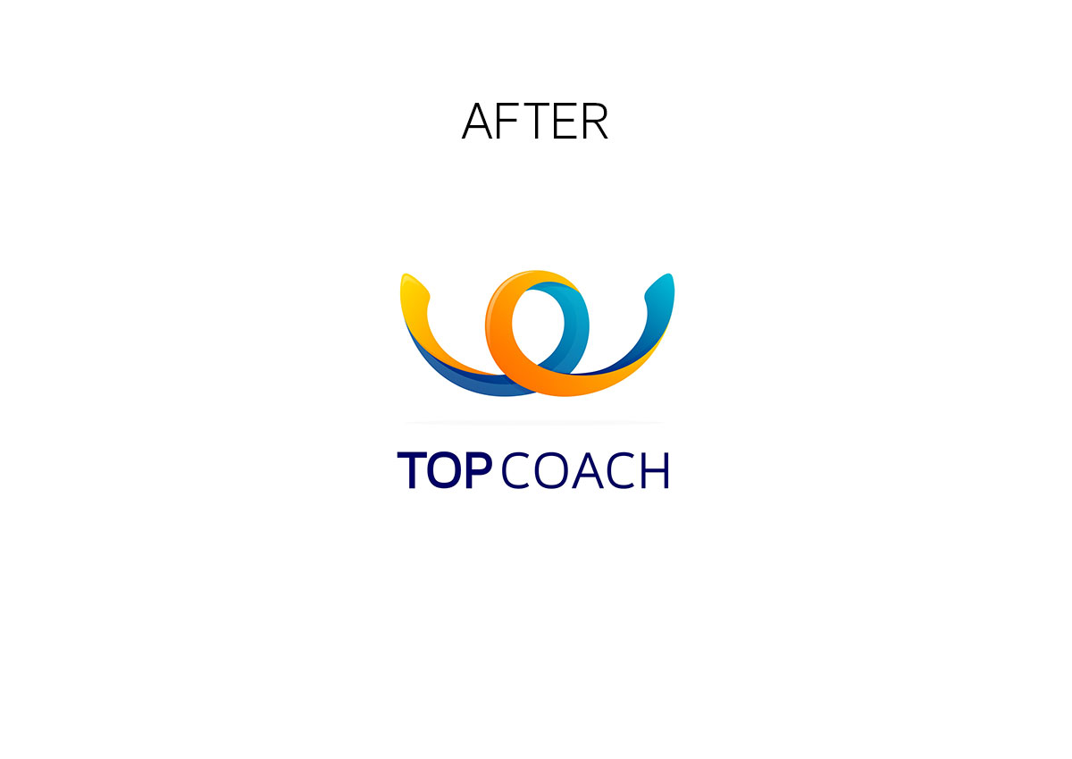 topcoach logo branding by inoveo