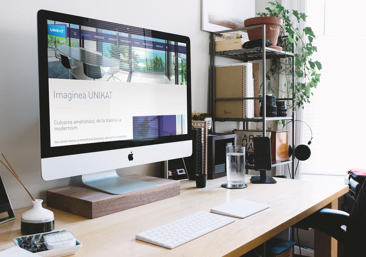 unikat webdesign rebranding site