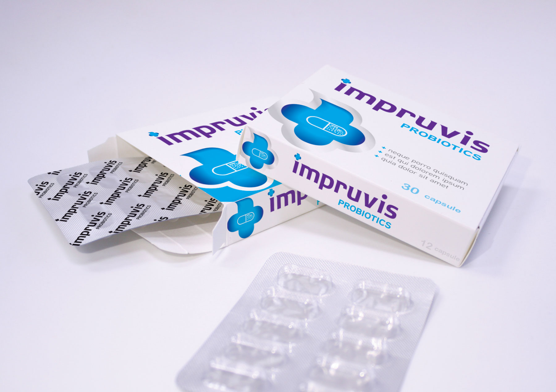 impruvis header package design branding