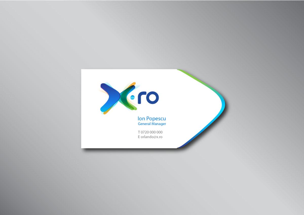 x.ro brand carte de vizita