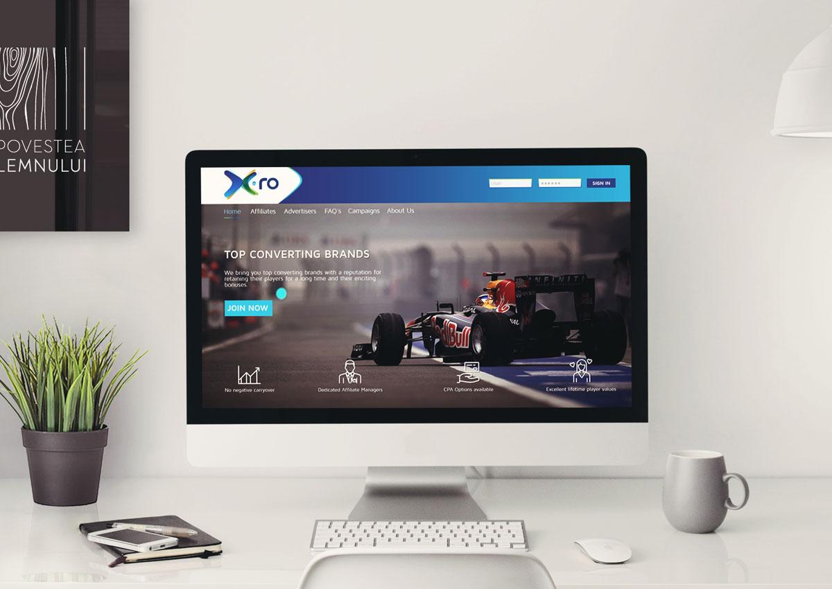 x.ro brand webdesign
