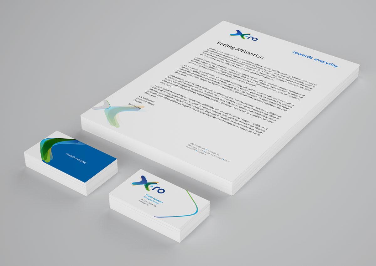 x.ro brand stationary