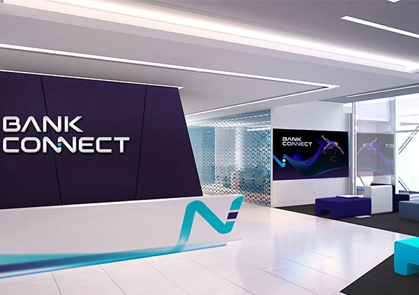 bank connect branding ambiental