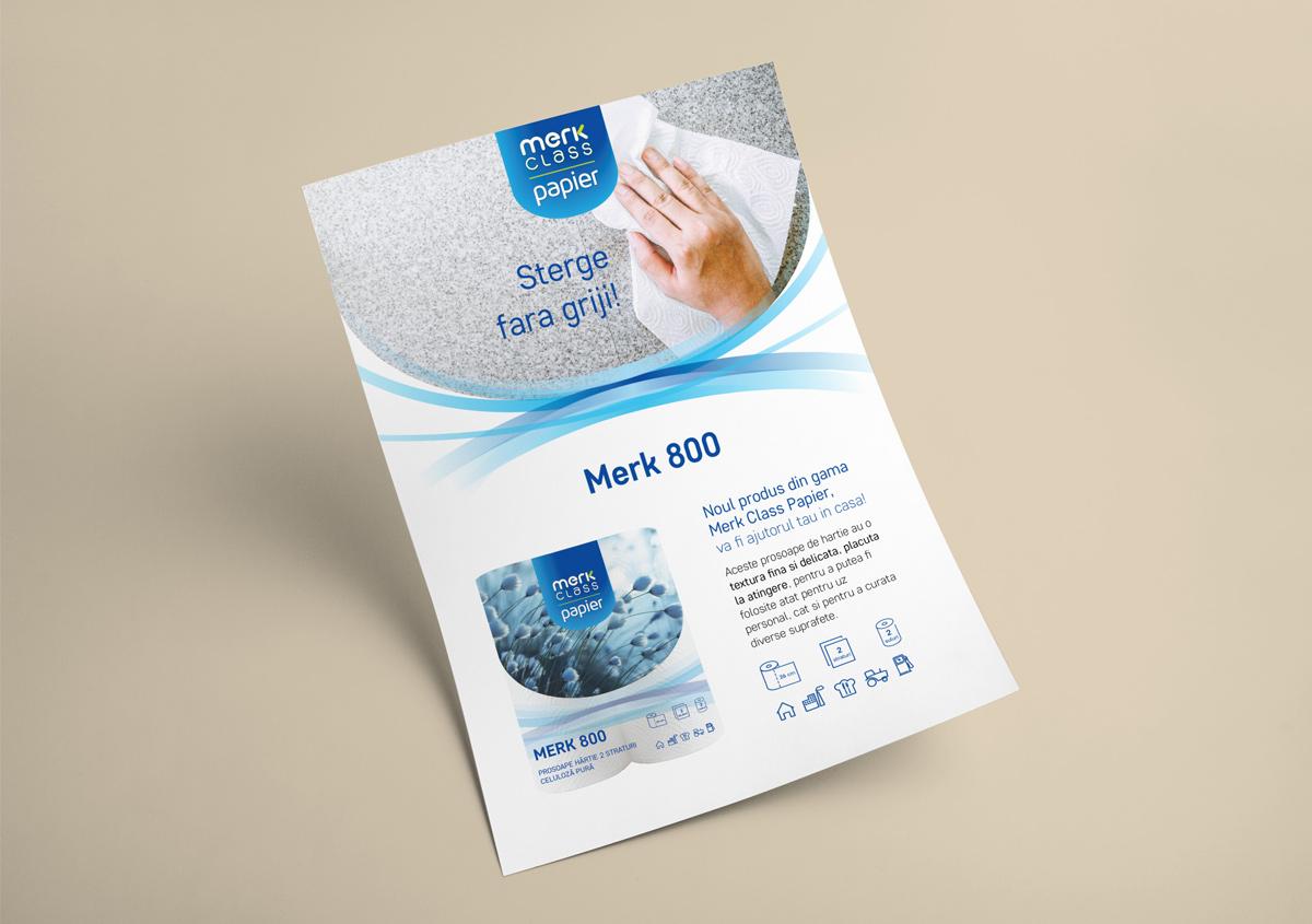 flyer merk class papier