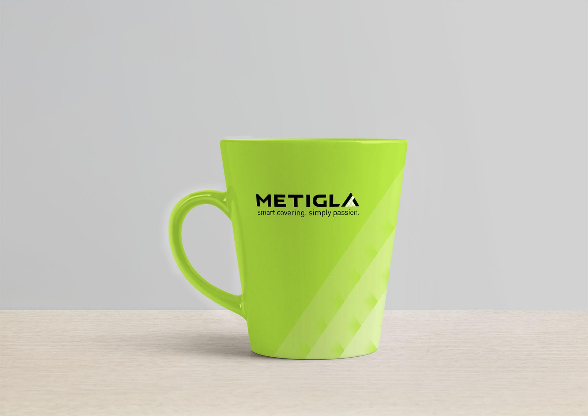 metigla branding cup