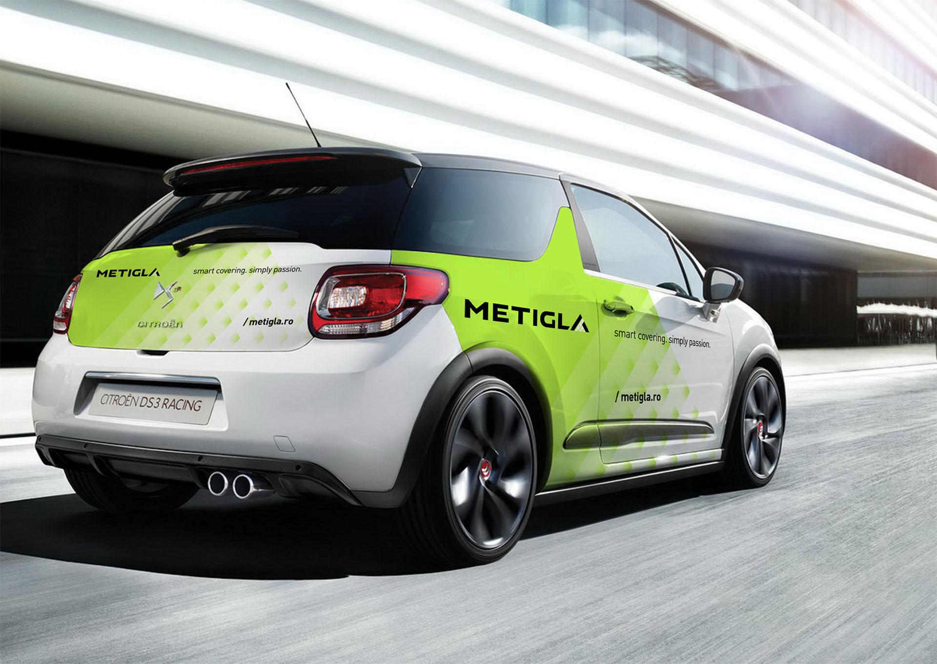 metigla branding car