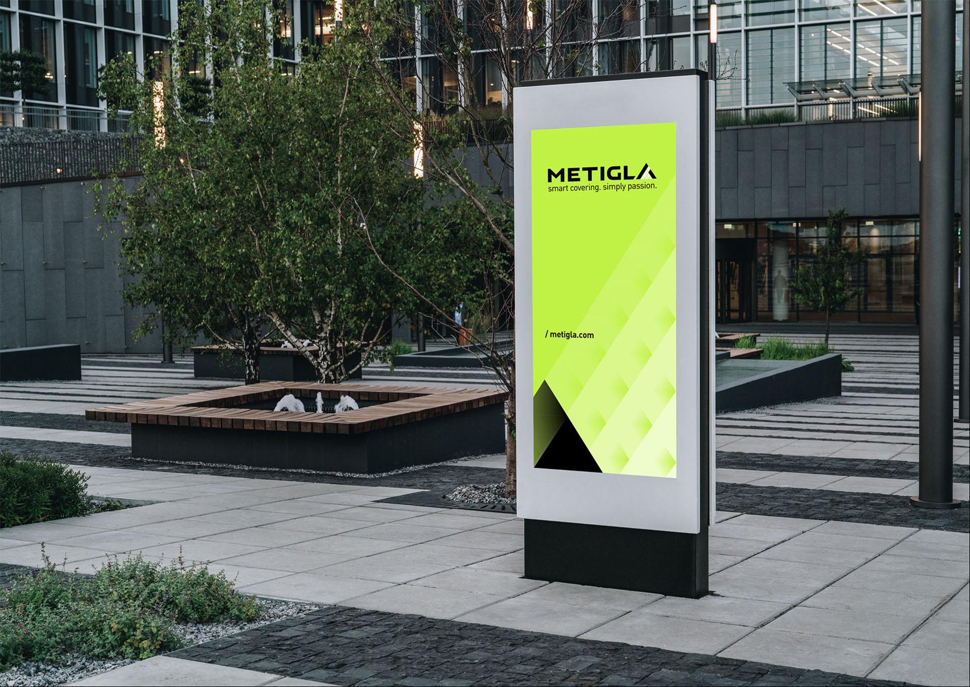 metigla branding outside