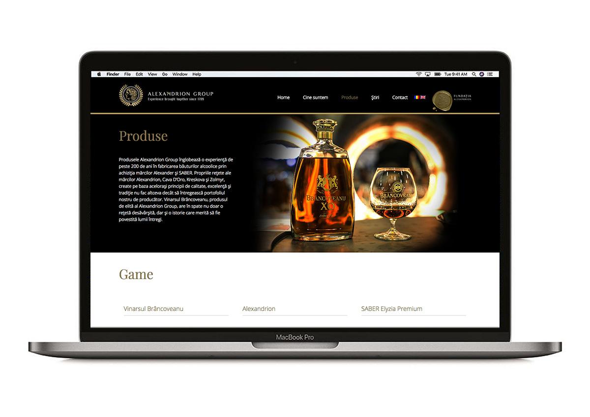 alexandrion website branding inoveo