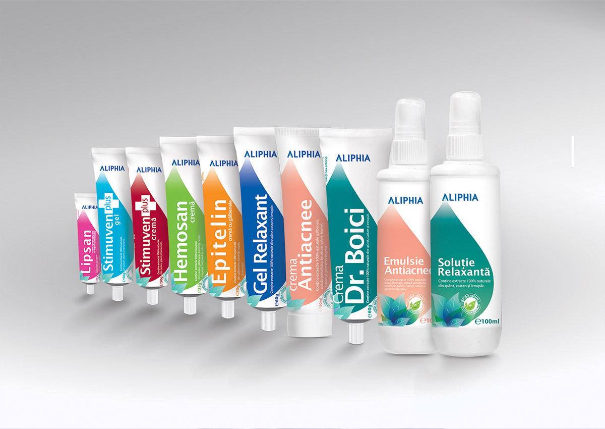 portofoliu branding aliphia produs