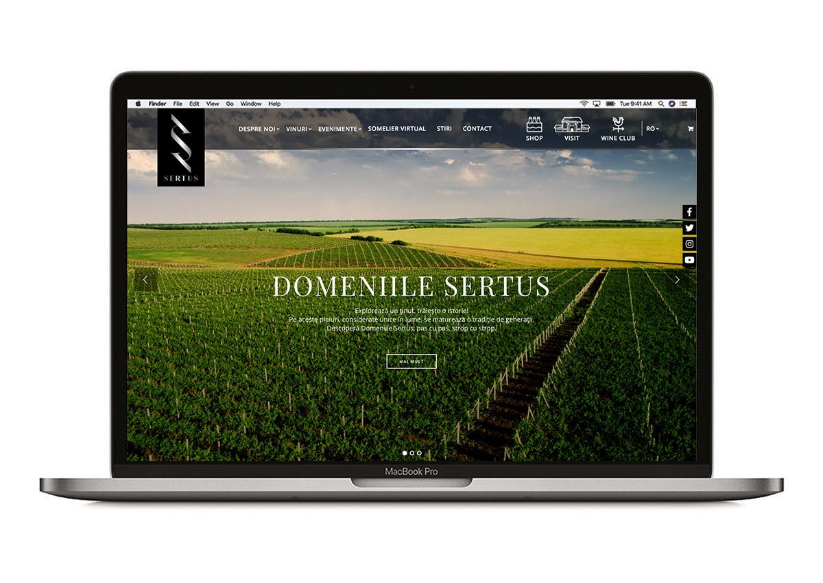 Sertus website branding inoveo