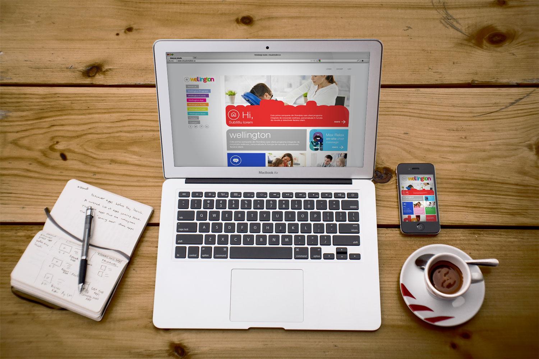 wellington website branding portofoliu inoveo