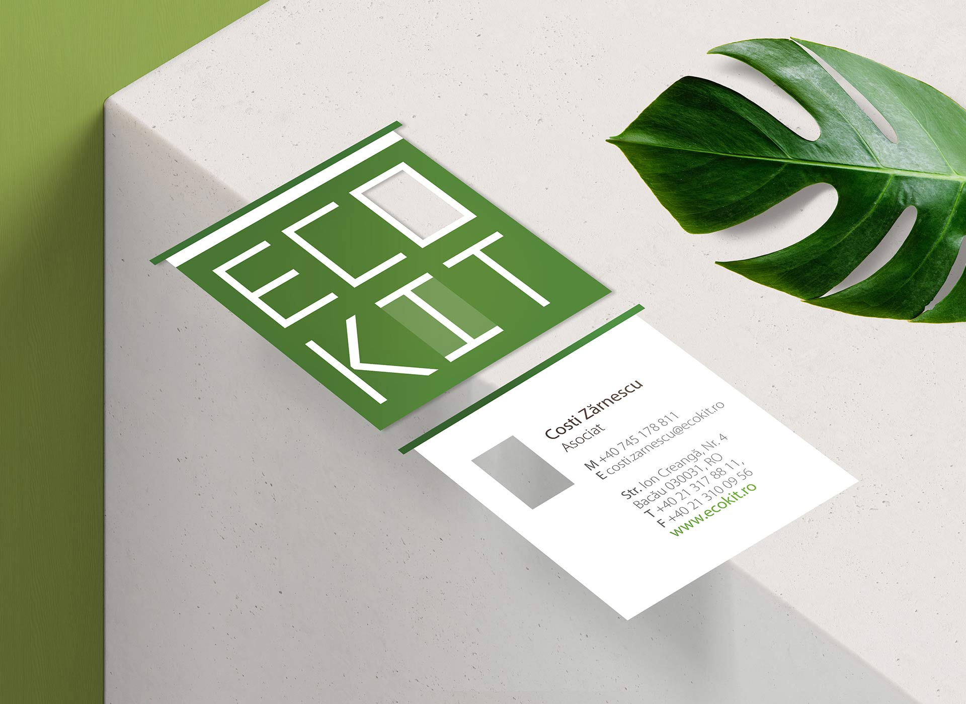 logo design ecokit real estate by inoveo green