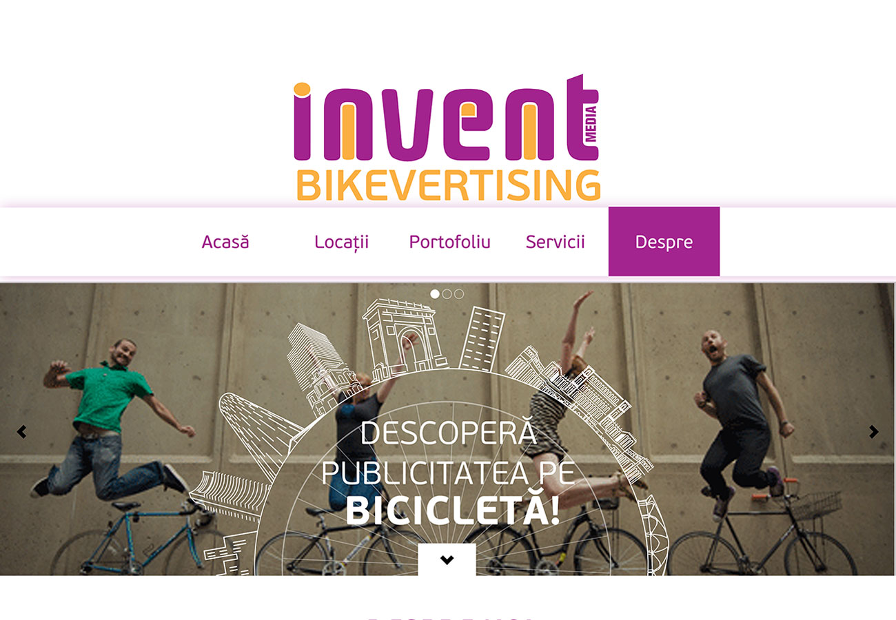 bikevertising webdesign project
