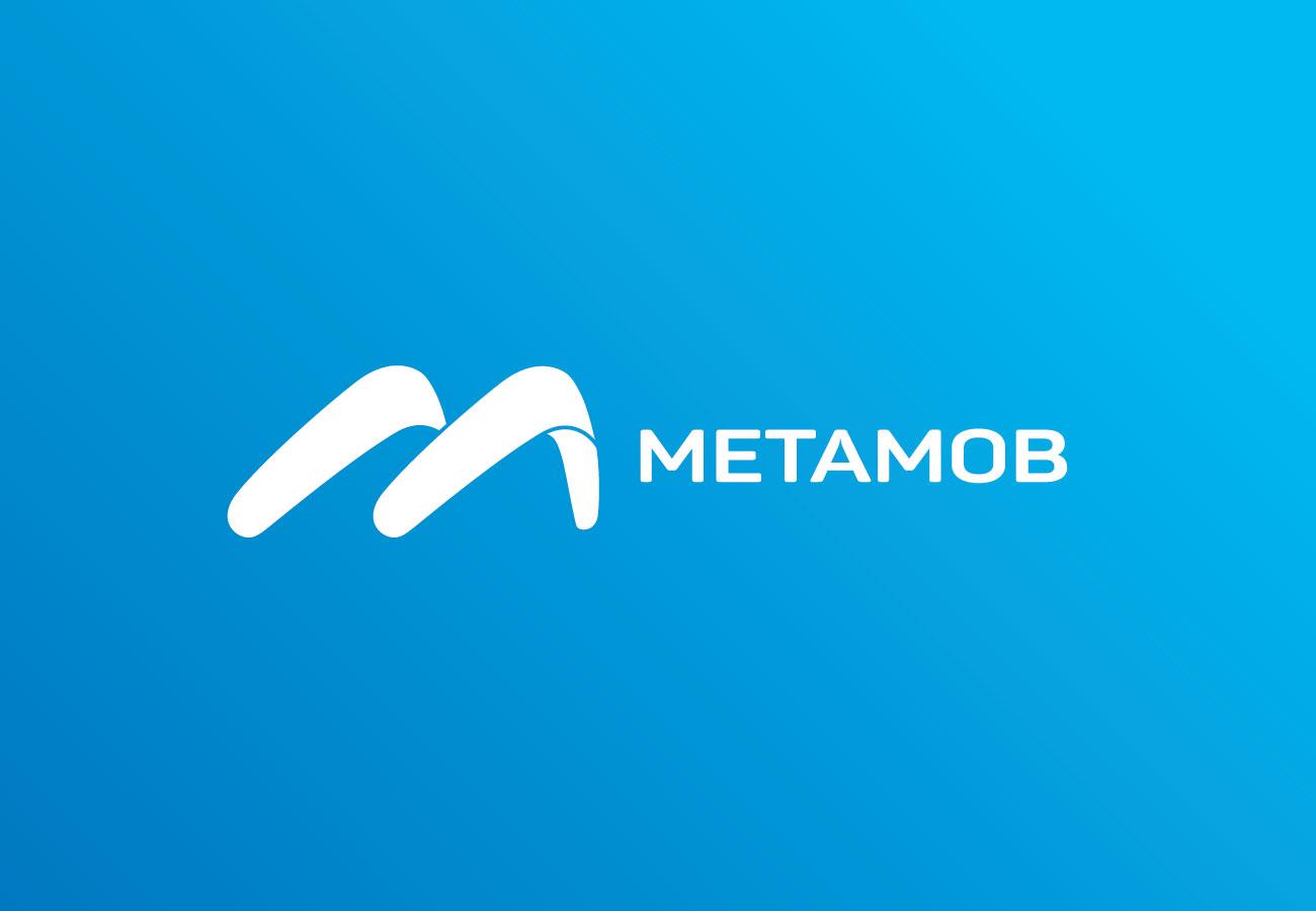 branding metamob logo design albastru