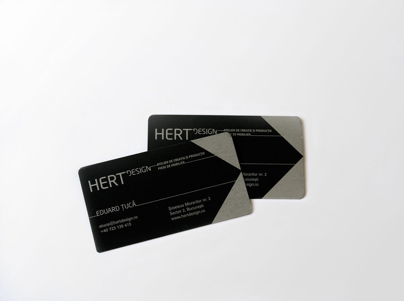 hert portofoliu branding carti vizita