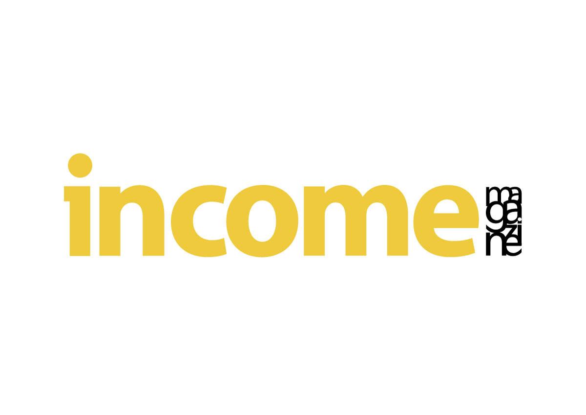 logo income revista branding
