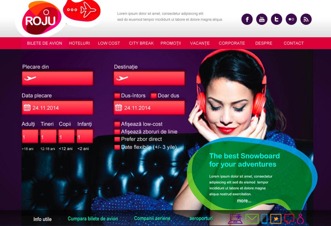 roju homepage design concept