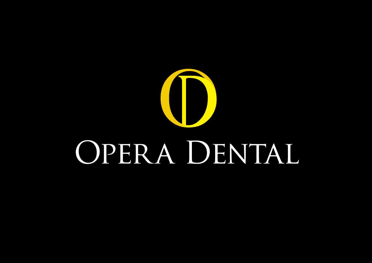 opera dental branding logo pe negativ