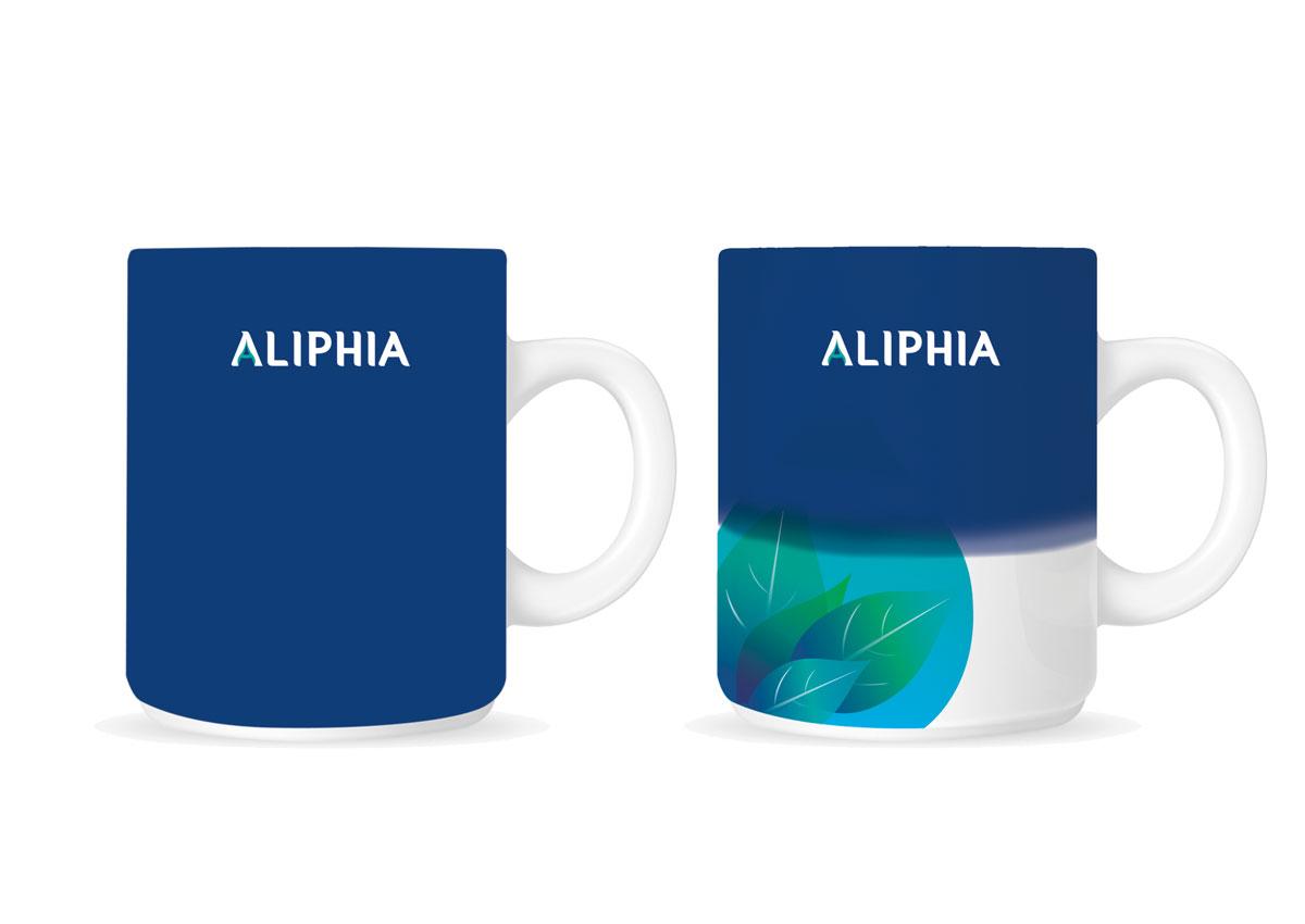 portofoliu branding aliphia promotionale
