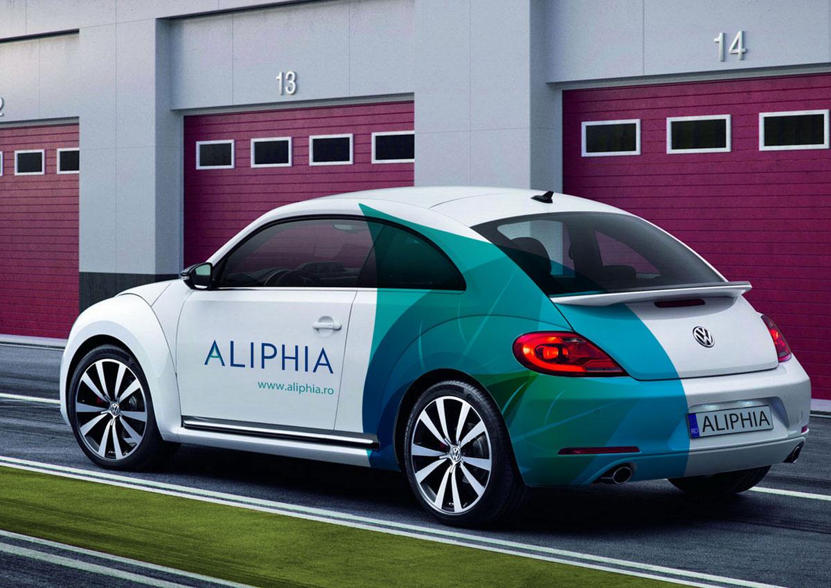 portofoliu branding aliphia colantare masina