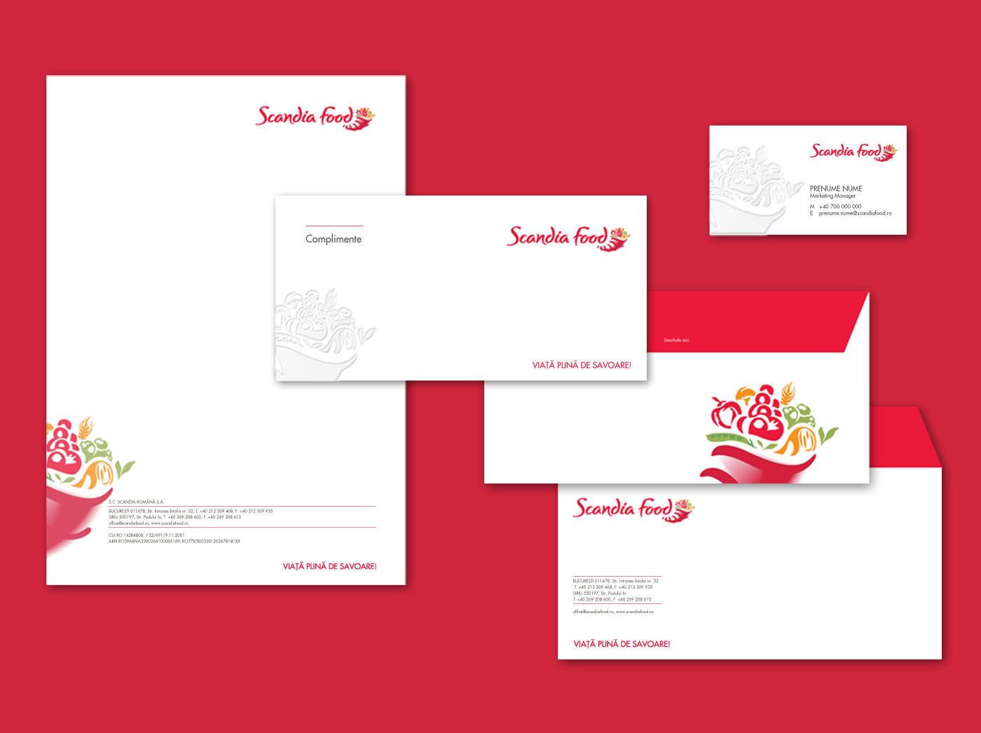 scandia food stationary design inoveo