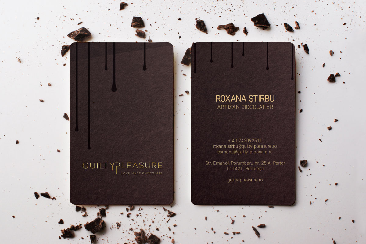 guilty pelasure portfolio business cards