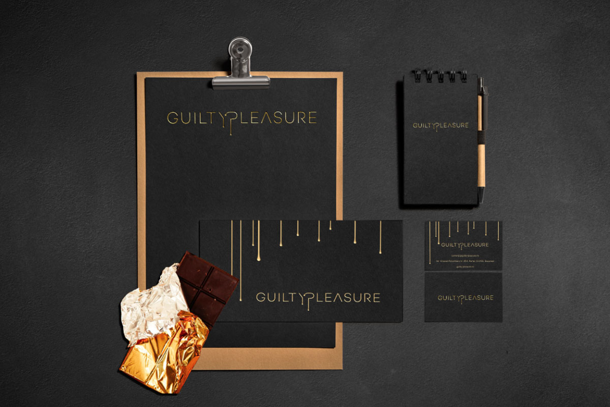 guilty pleasure portofoliu branding stationary