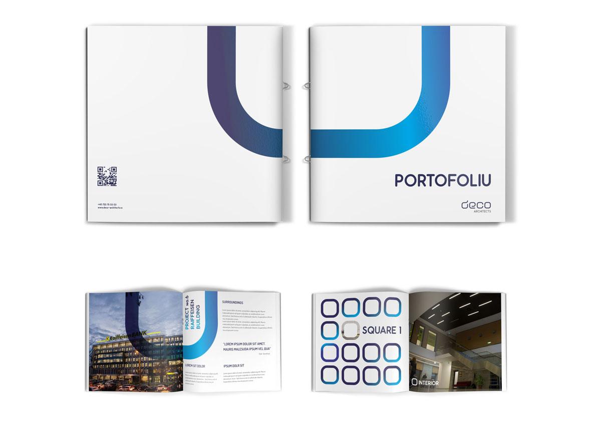 deco architects booklet design