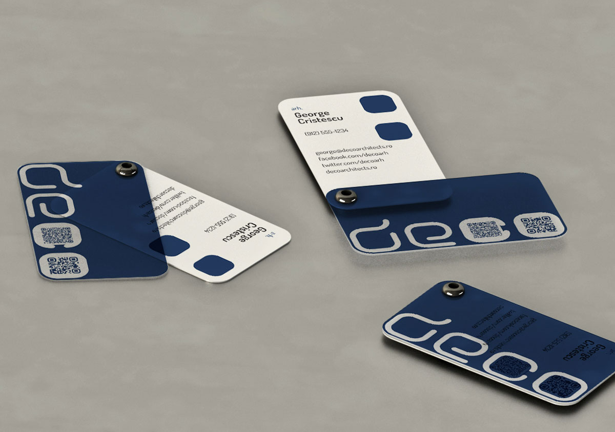 deco architects business card concept