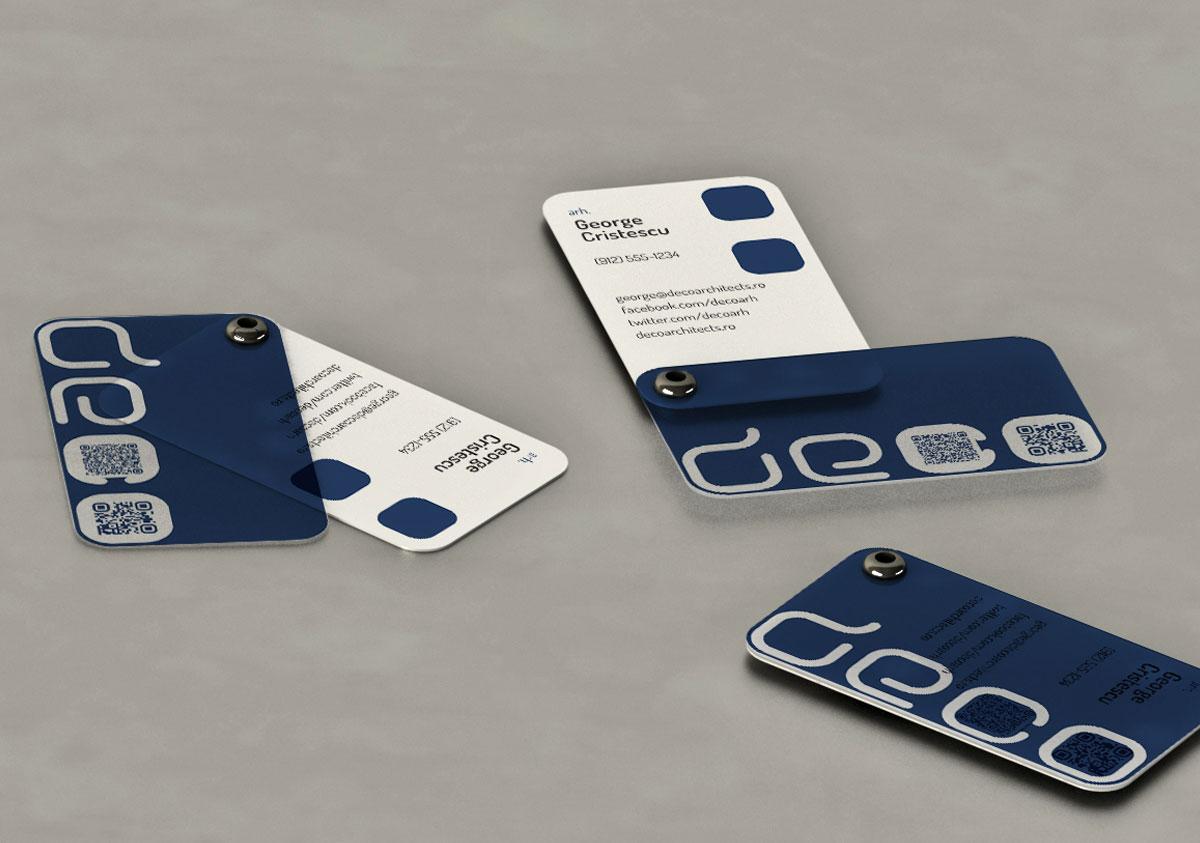 deco architects carti vizita concept