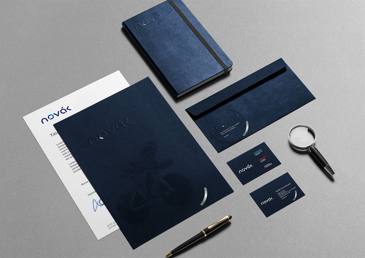 novak stationary branding
